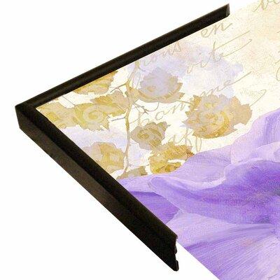 'Purple Paris II' Graphic Art Print Format: Canvas