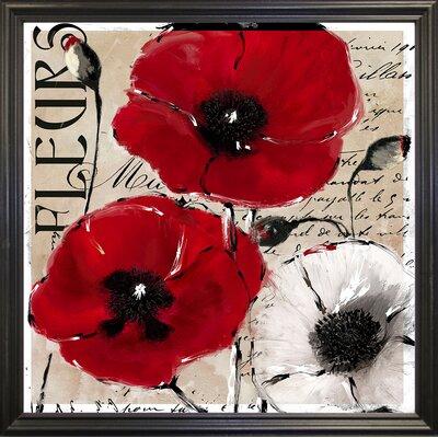 'Rouge One' Graphic Art Print Format: Black Grande Framed