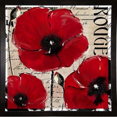 'Rouge Two' Graphic Art Print Format: Black Medium Framed