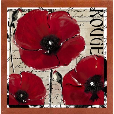 'Rouge Two' Graphic Art Print Format: Canadian Walnut Medium Framed