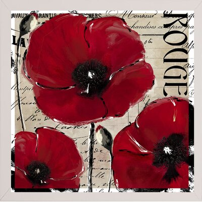 'Rouge Two' Graphic Art Print Format: White Medium Framed
