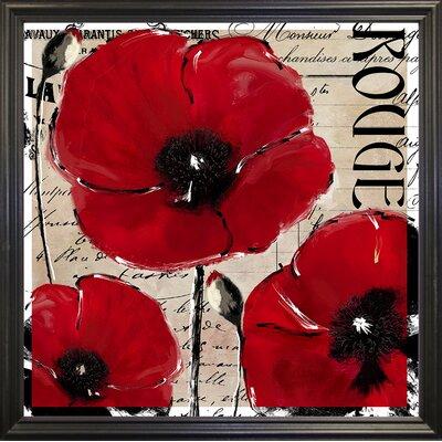 'Rouge Two' Graphic Art Print Format: Black Grande Framed