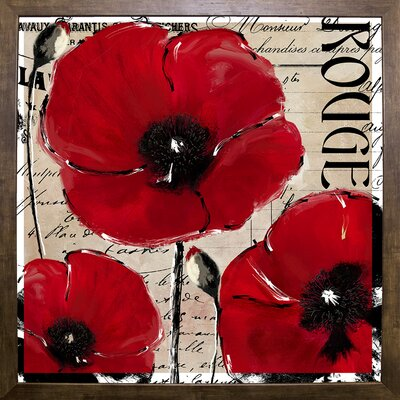 'Rouge Two' Graphic Art Print Format: Cafe Mocha Framed
