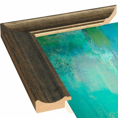 'Aqua Circumstance' Painting Print Format: Canvas