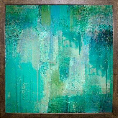 'Aqua Circumstance' Painting Print Format: Cafe Mocha Framed
