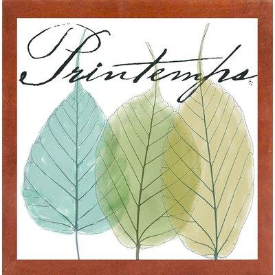 'Seasons I' Graphic Art Print Format: Canadian Walnut Medium Framed