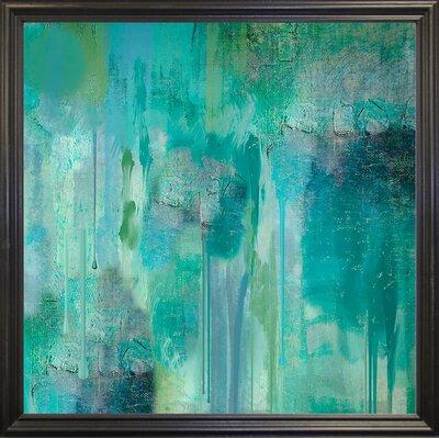 'Aqua Circumstance II' Print Format: Black Grande Framed