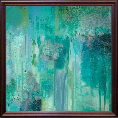 'Aqua Circumstance II' Print Format: Cherry Grande Framed