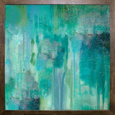 'Aqua Circumstance II' Print Format: Cafe Mocha Framed