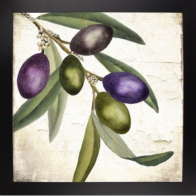 'Olive Branch I' Graphic Art Print Format: Black Large Framed