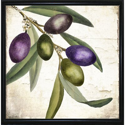 'Olive Branch I' Graphic Art Print Format: Metal Flat Black Framed