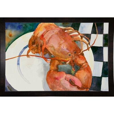 'Lobster' Framed Graphic Art Print Format: Black Medium Framed