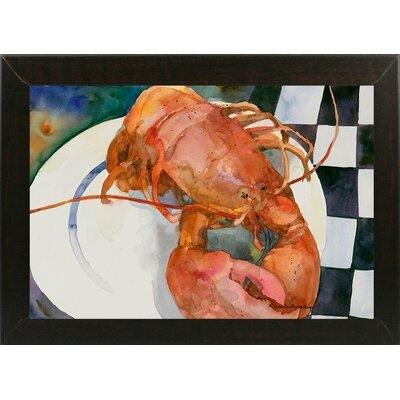 'Lobster' Framed Graphic Art Print Format: Brazilian Walnut Medium Framed