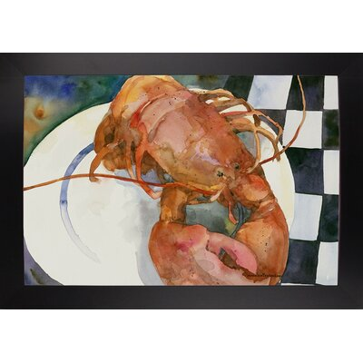 'Lobster' Framed Graphic Art Print Format: Black Large Framed