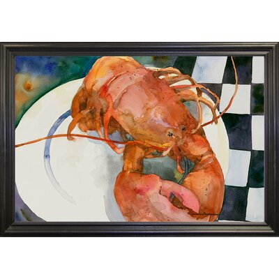 'Lobster' Framed Graphic Art Print Format: Black Grande Framed