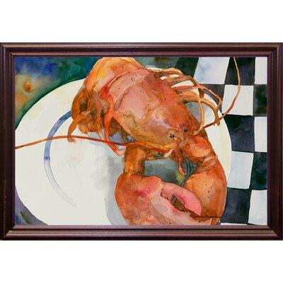 'Lobster' Framed Graphic Art Print Format: Cherry Grande Framed