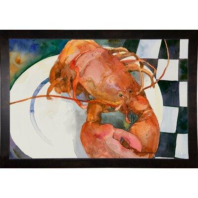 'Lobster' Framed Graphic Art Print Format: Cafe Espresso Framed