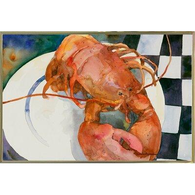 'Lobster' Framed Graphic Art Print Format: Metal Gold Framed