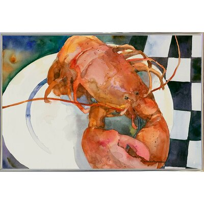 'Lobster' Framed Graphic Art Print Format: Metal Silver Framed