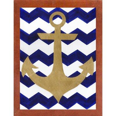 'Chevron Anchor' Print Format: Canadian Walnut Medium Framed