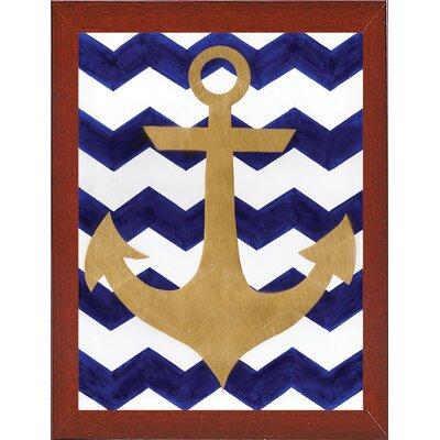 'Chevron Anchor' Print Format: Red Mahogany Medium Framed