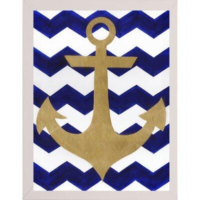 'Chevron Anchor' Print Format: White Medium Framed