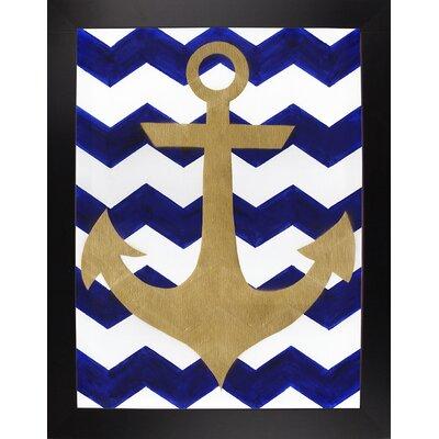 'Chevron Anchor' Print Format: Black Large Framed