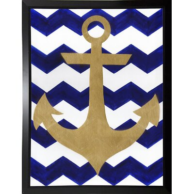 'Chevron Anchor' Print Format: Plastic Black Framed