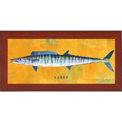 'Waho' Graphic Art Print Format: Affordable Red Mahogany Medium Framed Paper, Size: 9.5