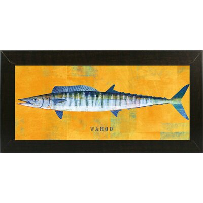 'Waho' Graphic Art Print Format: Affordable Brazilian Walnut Medium Framed Paper, Size: 9.5