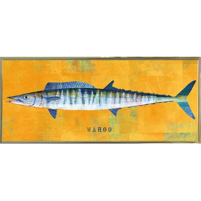 'Waho' Graphic Art Print Format: Gold Metal Framed Paper, Size: 9.5
