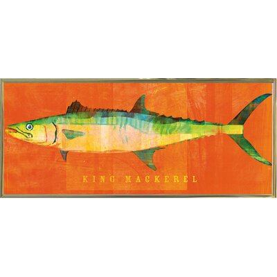 'King Mackerel' Graphic Art Print Format: Gold Metal Framed Paper, Size: 9.5