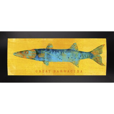 'Great Barracuda' Graphic Art Print Format: Affordable Black Large Framed Paper, Size: 9.5