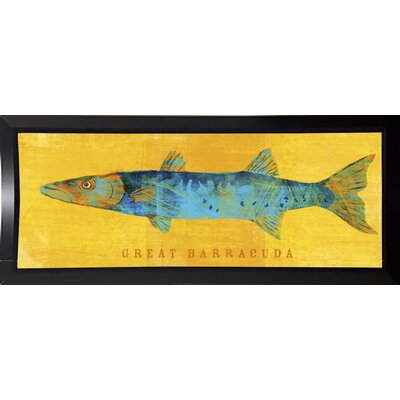 'Great Barracuda' Graphic Art Print Format: Budget Saver Framed Paper, Size: 9.5