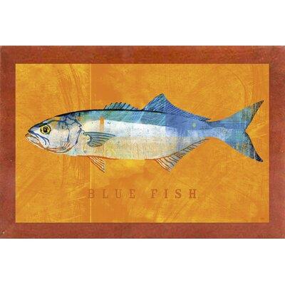 'Bluefish' Graphic Art Print Format: Affordable Canadian Walnut Medium Framed Paper, Size: 12