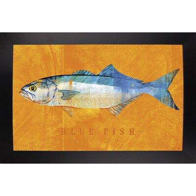 'Bluefish' Graphic Art Print Format: Affordable Black Large Framed Paper, Size: 12
