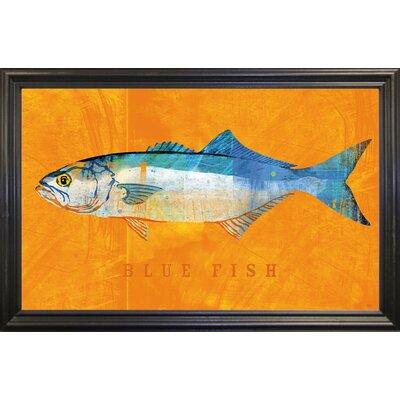 'Bluefish' Graphic Art Print Format: Black Grande Framed Paper, Size: 12