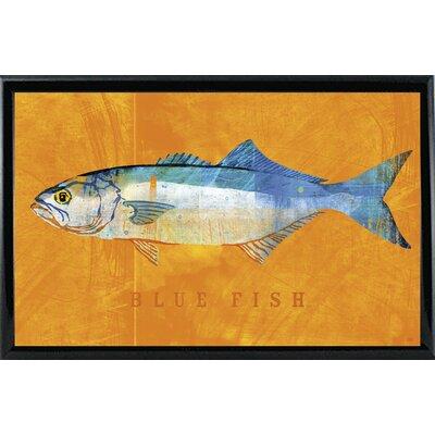 'Bluefish' Graphic Art Print Format: Black Metal Framed Paper, Size: 12