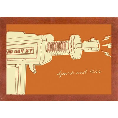 'Lunastrella Raygun No. 1' Graphic Art Print Format: Affordable Canadian Walnut Medium Framed Paper, Size: 12.75