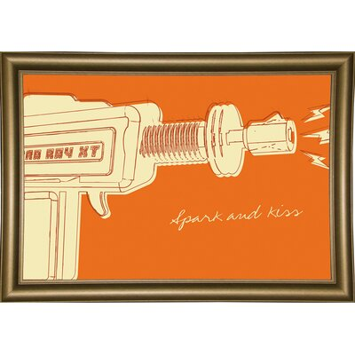 'Lunastrella Raygun No. 1' Graphic Art Print Format: Bistro Gold Framed Paper, Size: 12.75
