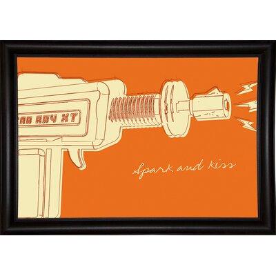 'Lunastrella Raygun No. 1' Graphic Art Print Format: Bistro Espresso Framed Paper, Size: 12.75