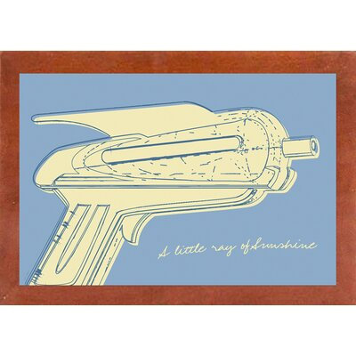 'Lunastrella Raygun No. 2' Graphic Art Print Format: Affordable Canadian Walnut Medium Framed Paper, Size: 12.75