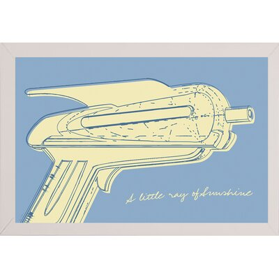 'Lunastrella Raygun No. 2' Graphic Art Print Format: Affordable White Medium Framed Paper, Size: 12.75