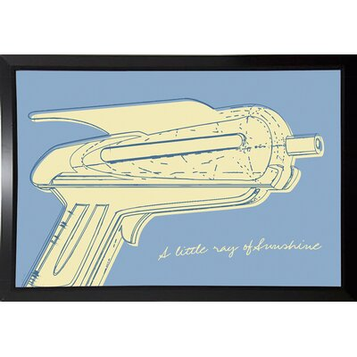 'Lunastrella Raygun No. 2' Graphic Art Print Format: Budget Saver Framed Paper, Size: 12.75
