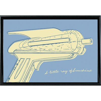 'Lunastrella Raygun No. 2' Graphic Art Print Format: Black Metal Framed Paper, Size: 12.75