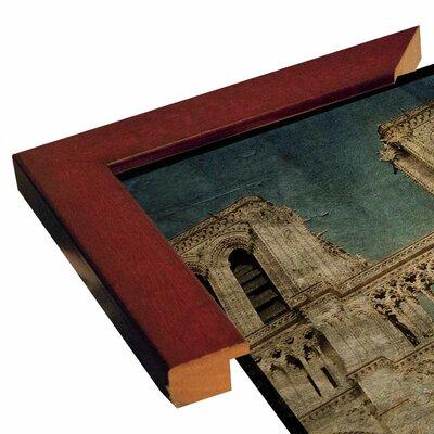 'Notre Dame' Graphic Art Print Format: Canvas Black Floater Frame, Size: 6