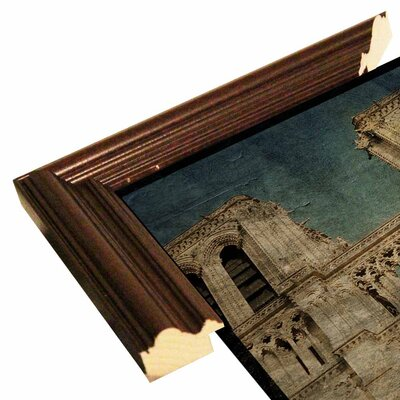 'Notre Dame' Graphic Art Print Format: Cherry Grande Framed Paper, Size: 6