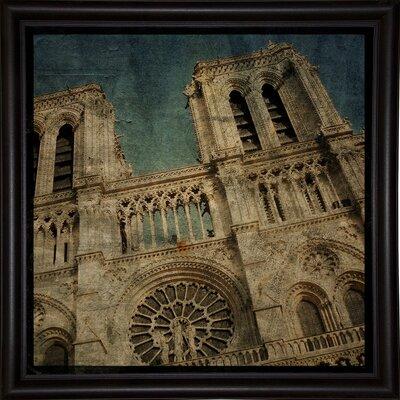 'Notre Dame' Graphic Art Print Format: Bistro Espresso Framed Paper, Size: 6