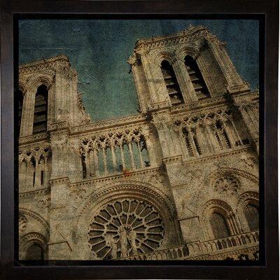'Notre Dame' Graphic Art Print Format: Cafe Espresso Framed Paper, Size: 6