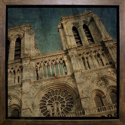 'Notre Dame' Graphic Art Print Format: Cafe Mocha Framed Paper, Size: 6